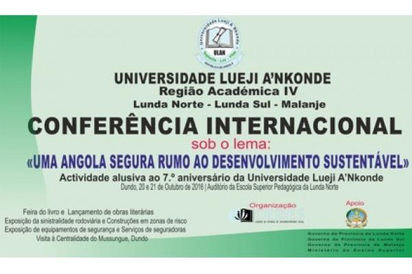 Universidade Lueji A'nkonde Realiza Conferência Internacional no Dundo